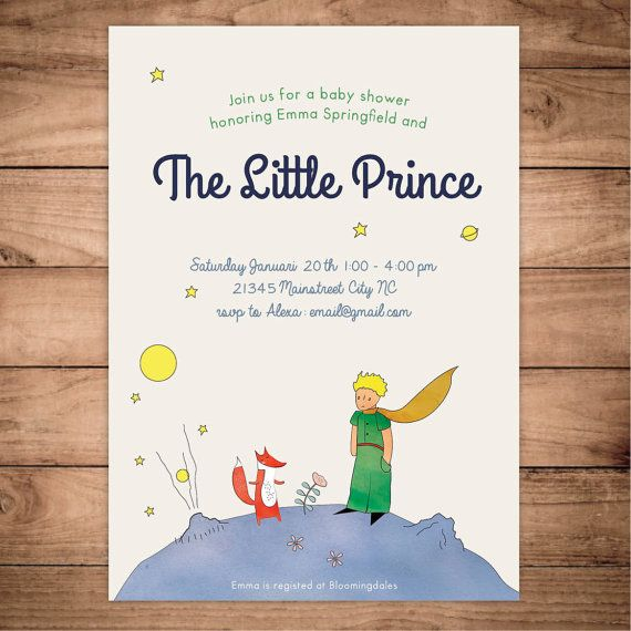 The Little Prince Le Petit Prince Baby Shower By Fansterdesign