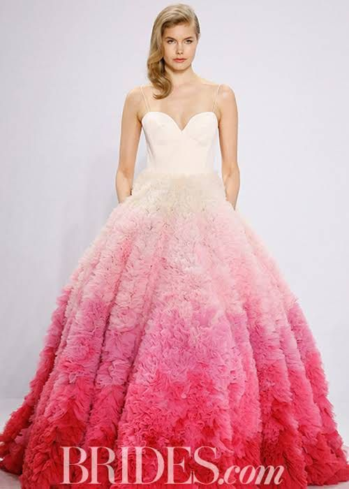 Colorful Wedding Dresses You Can Buy Now | Colorful weddings ...