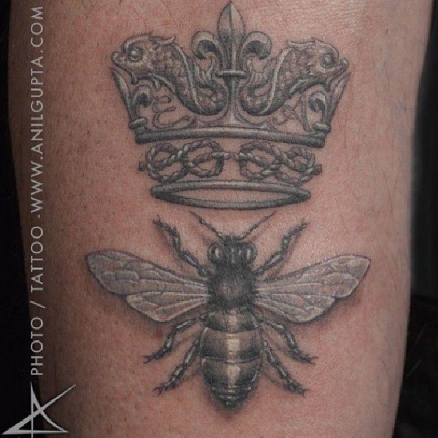 Bee And Crown Tattoo Designs Jpg 640 640 Pixels Queen Bee Tattoo Bee Tattoo Crown Tattoo