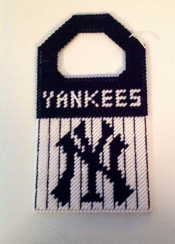 Yankees Needle Craft Door Knob Hanger by MaidenLongIsland on Etsy ...