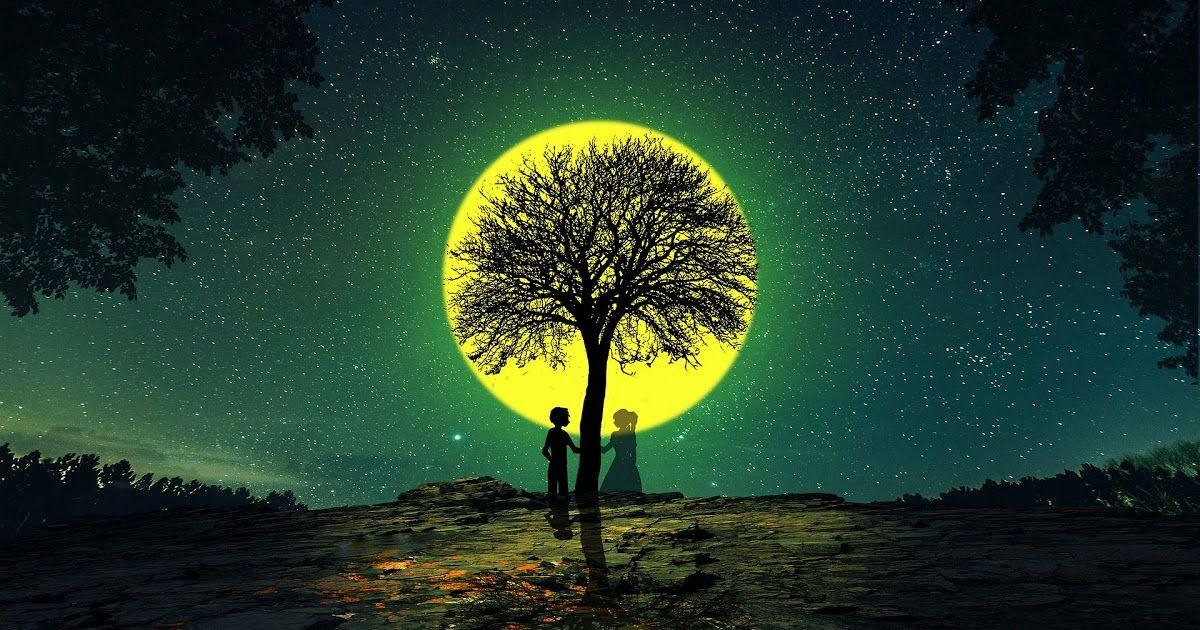 Download Wallpaper 1920x1080 Silhouettes Love Tree Night Desktop Wallpapers Free Hd Download 500 Hq Unspla In 2020 Hd Wallpapers 1080p Hd Wallpaper Tree Hd Wallpaper