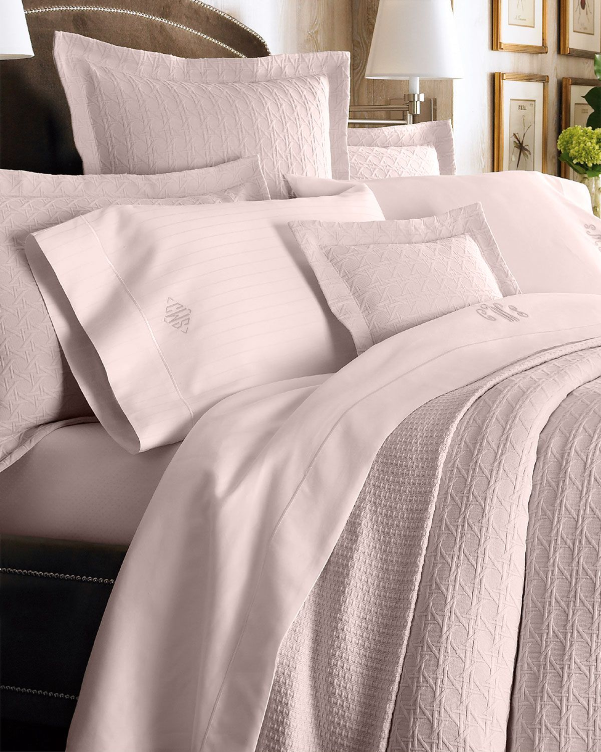King Marcus Collection Cane Matelasse Coverlet Home Bedrooms