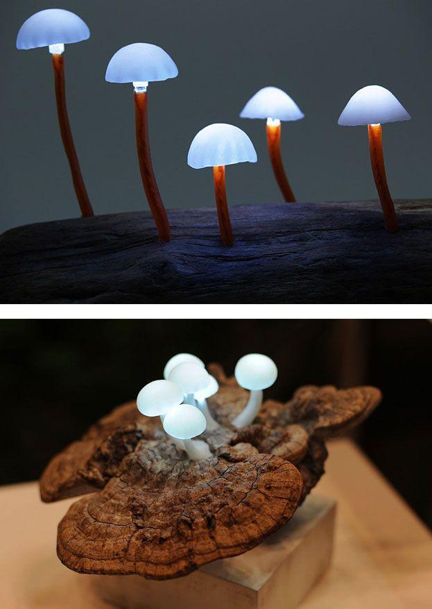 Forest Mushroom Lamps #DIY #Handmade