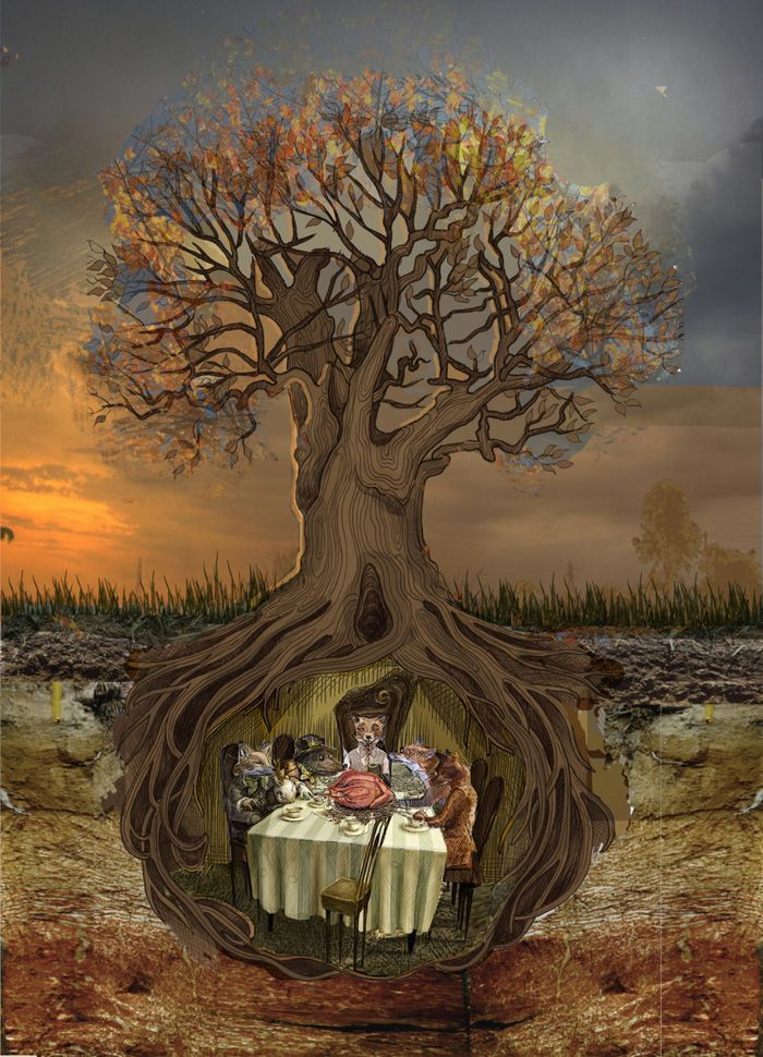 Fantastic Mr Fox By Coren Macniven In 2020 Fairytale Art Whimsical Art Fantastic Mr Fox