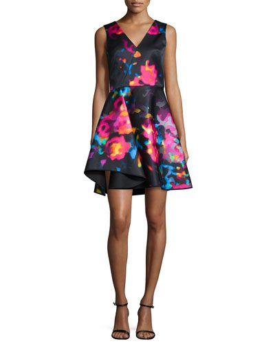 TAJW5 Milly Sleeveless Rosette Cascade Dress, Multicolor