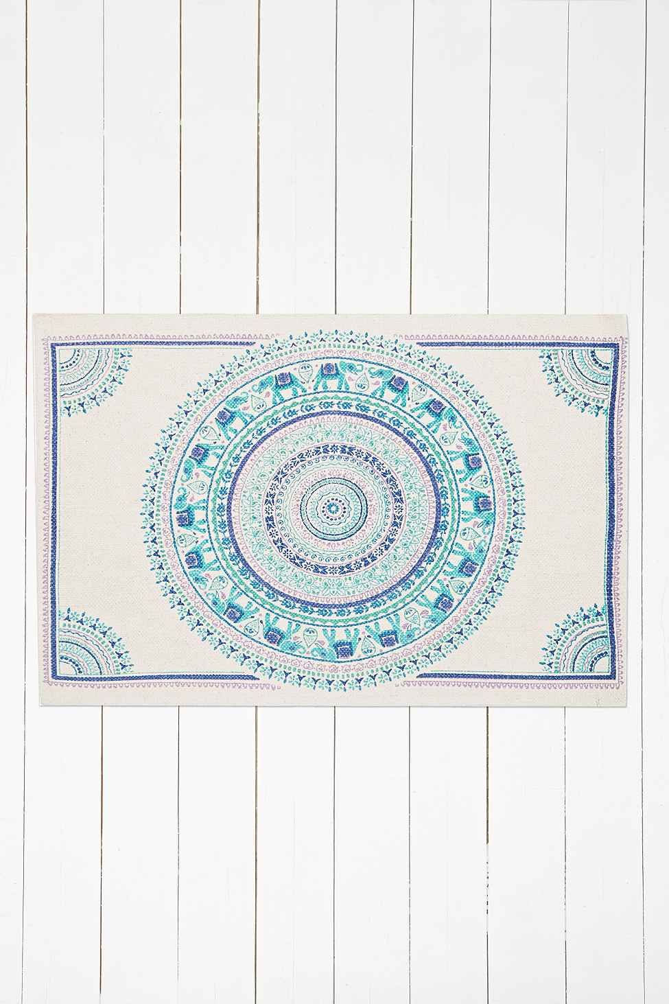 "Blauer Teppich ""Elephant Medallion"", 2 x 3"