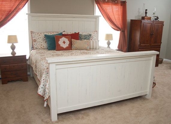 This Farmhouse Bed Is A Beautiful Sturdy Piece That Will Add Rustic