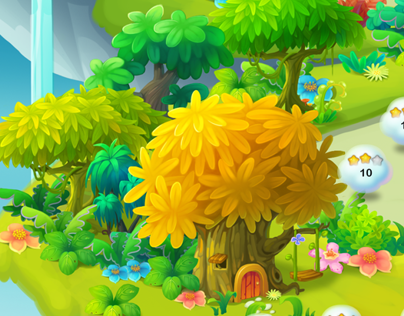 cute pop (iphone game) | Buildings & Backgrounds | Games, 2d