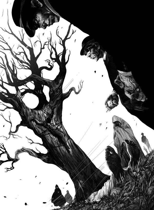 Black and White Illustration by Nicolas Delort