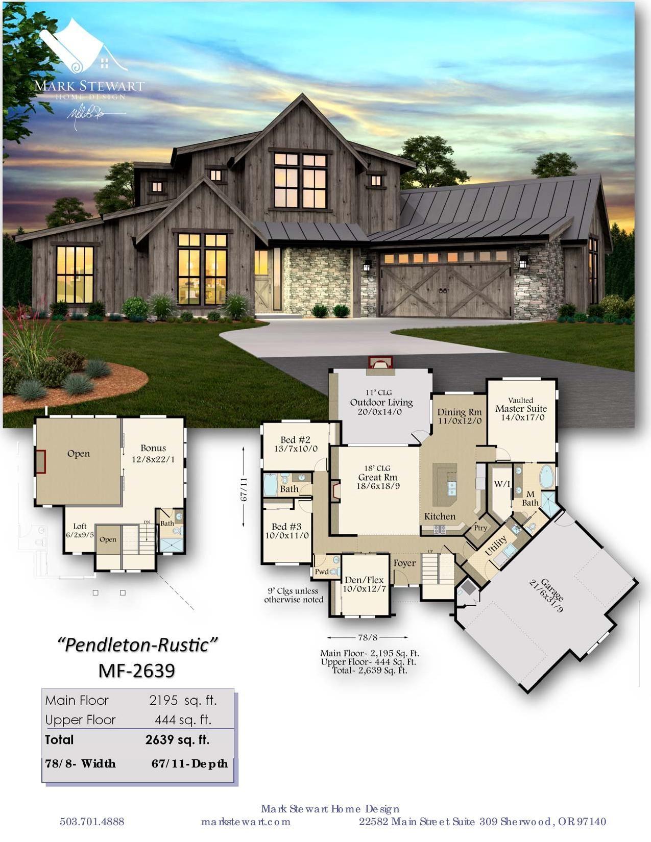 Pendleton House Plan