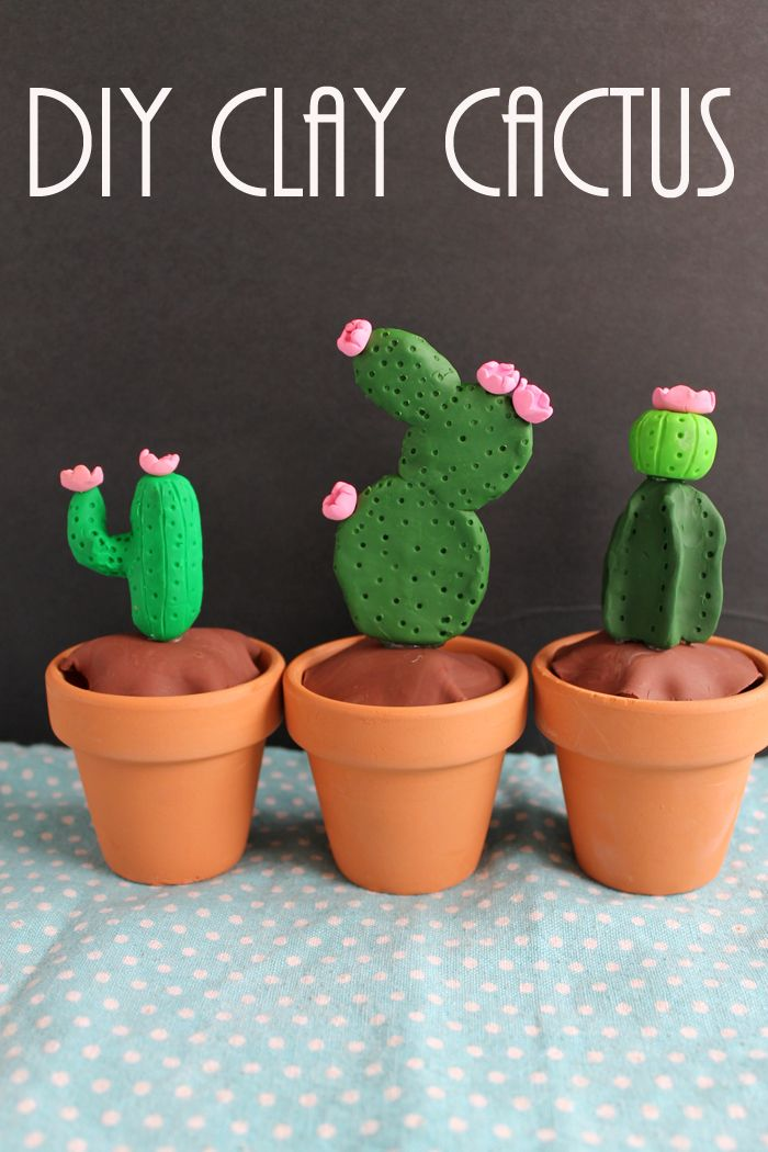 This DIY clay cactus is so easy that anyone can make it!