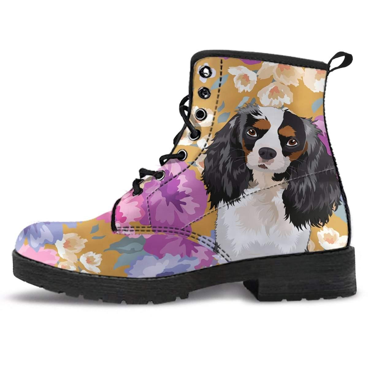 King Charles Spaniel Dog Portrait Boots   King charles