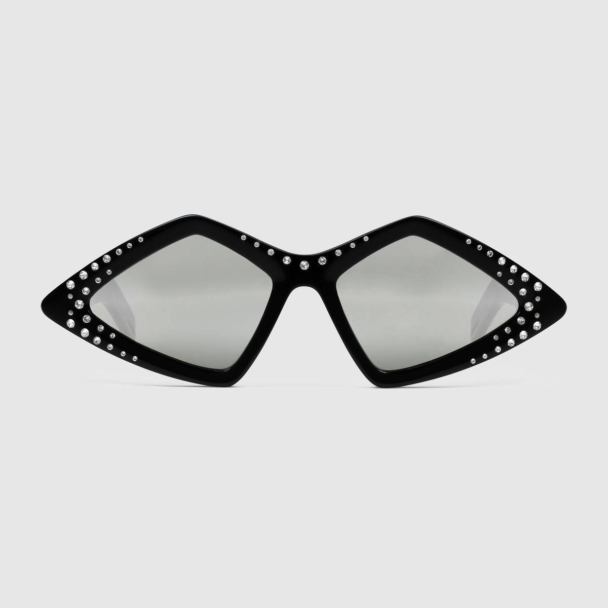 289c11762a Diamond-frame sunglasses with crystals in 2019 | Rhinestones ...