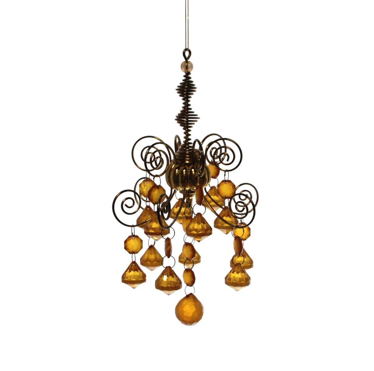 Chandelier Amber Ornament