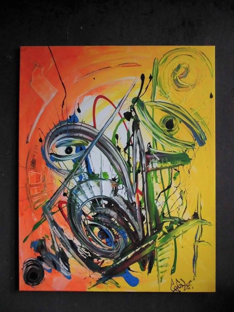 Gemälde Abstrakt Acryl Bilder Modern Bild XXL Kunst Original Deko Wandbild