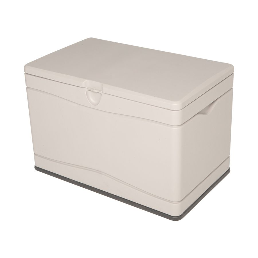 Lifetime Products 40 In L X 24 In W 80 Gallon Tan Resin Deck Box