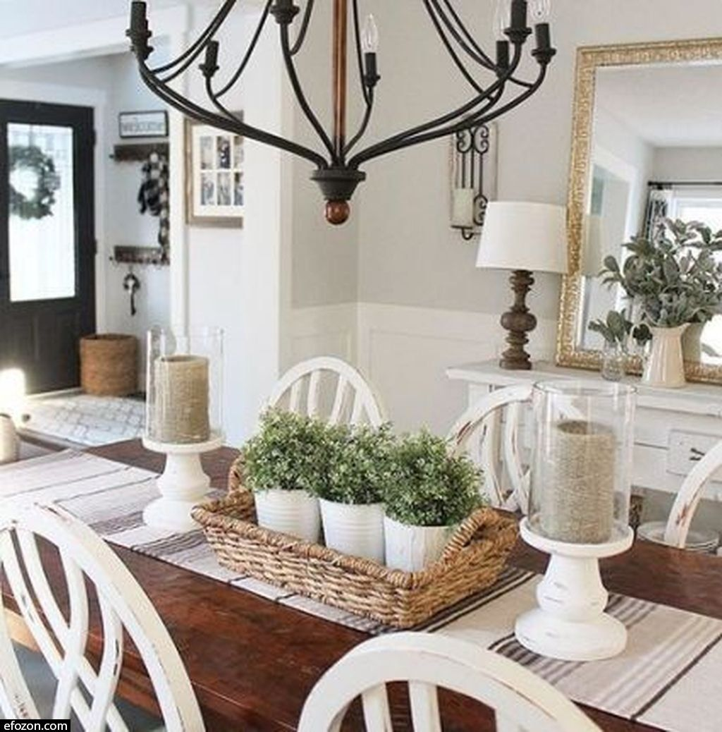 40 Rustic Farmhouse Table Options To Use In The Decor Image 5 Of 51 Dining Room Table Centerpieces Farmhouse Dining Room Table Farmhouse Dining Rooms Decor