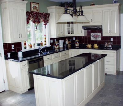 Off White Kitchen Cabinets With Black Countertops traditional kitchen white cabinets black countertops - google