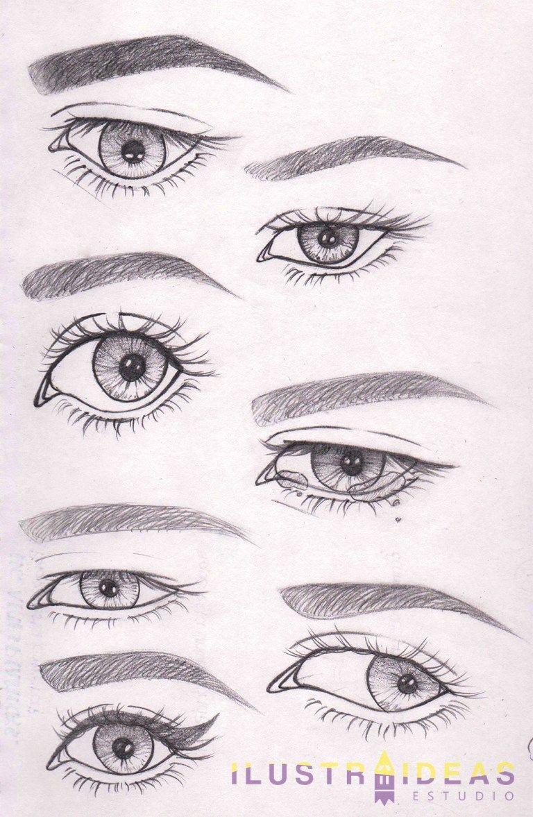 Quieres Aprender A Dibujar Ojos Te Ensenamos A Dibujar Ojos De Personas Animadas Paso A Paso Drawing People Eye Drawing Art Drawings