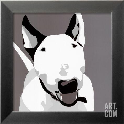Bull Terrier Framed Art Print By Emily Burrowes At Eu Art Com Bull Terrier Art Framed Art Prints Bull Terrier