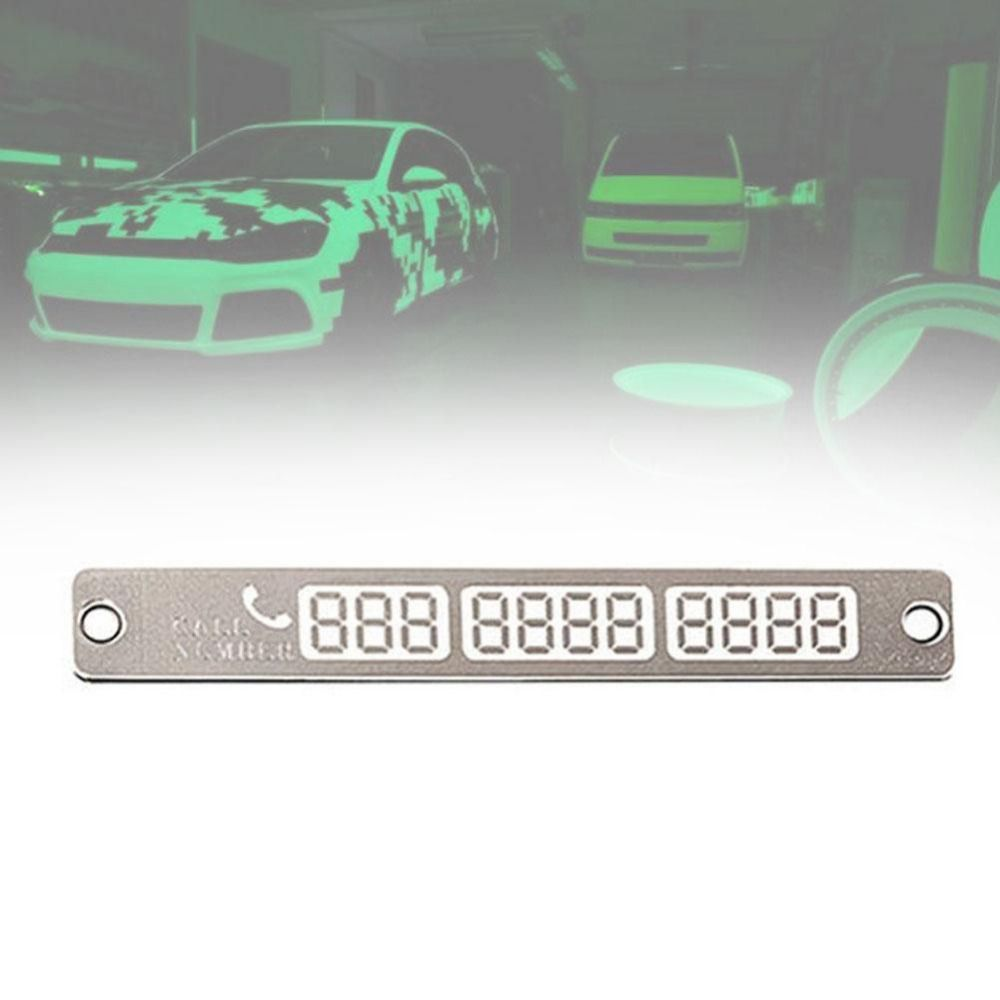 Car dashboard accessories toys  Car Styling Luminous Temporary Parking Card Phone Number plate
