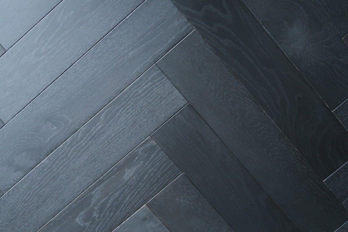 Black Shadow Herringbone Panels & Parquet Flooring