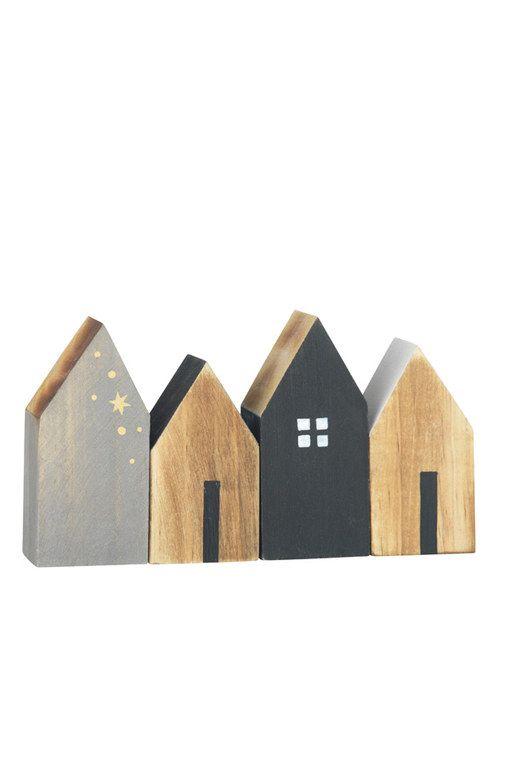 Holz Hauschen Deko Trends 2015 Haus Holz Weihnachten Holz