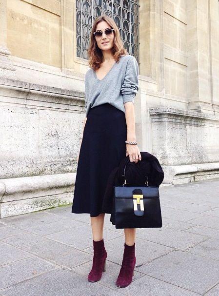7151459d88 12 Gorgeous Ways to Wear a Midi Skirt | STYLE: WORK ATTIRE | Fashion ...