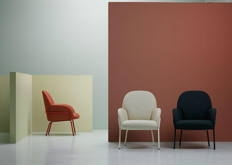 Nota design studio crea sedia sling per spazi compatti nel for Arredamento per studio