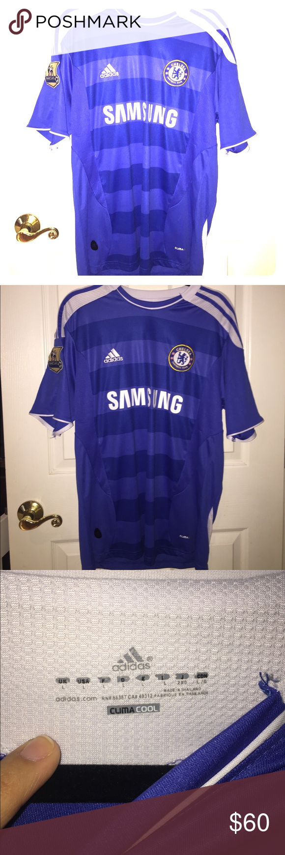 d9c0dd602 Authentic Chelsea Jersey Adidas Chelsea Jersey. Size L. Mint condition!! Don't  forget to bundle & save 😁 adidas Shirts Tees - Short Sleeve