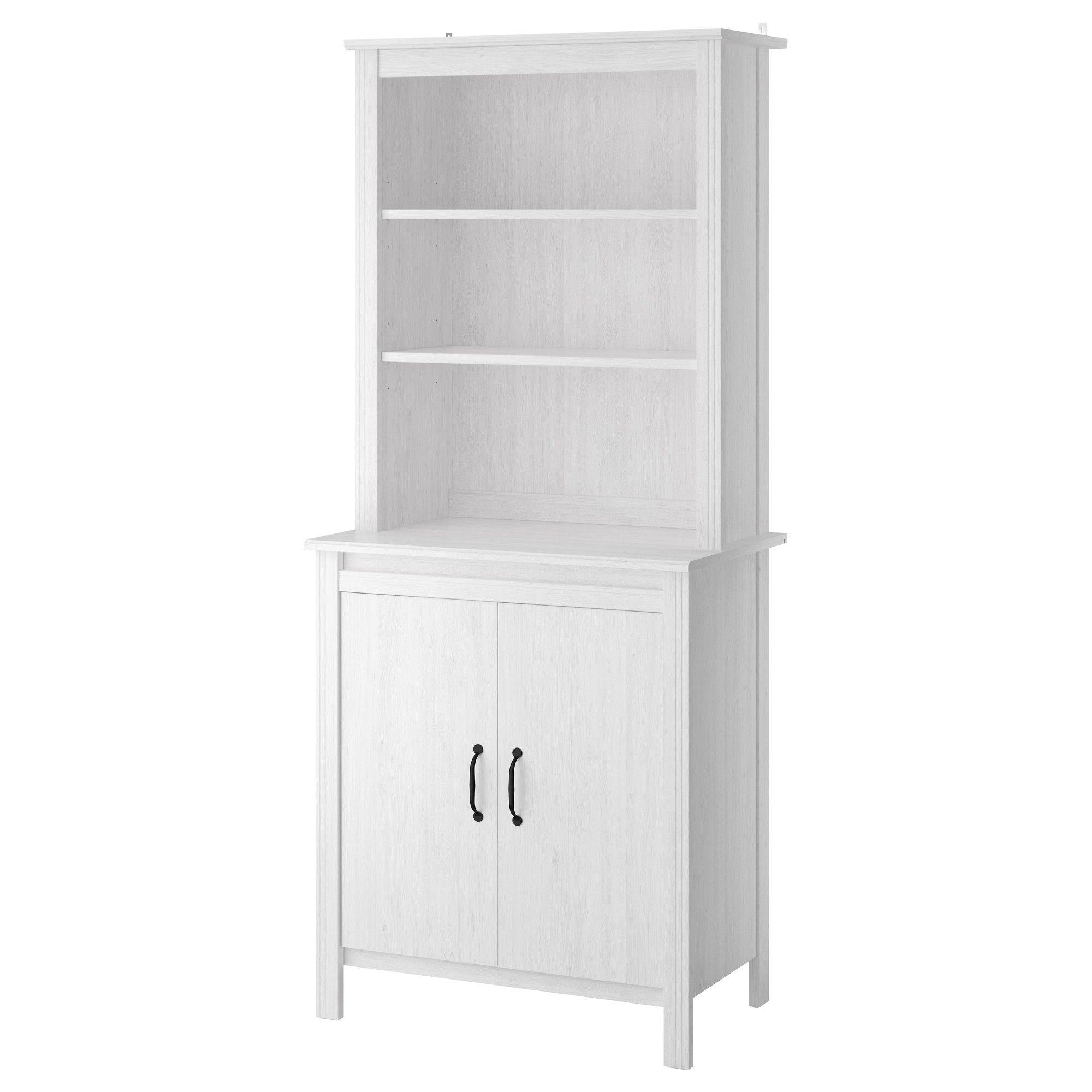 BRUSALI High cabinet with doors, white | Hochschrank, Badmoebel und ...