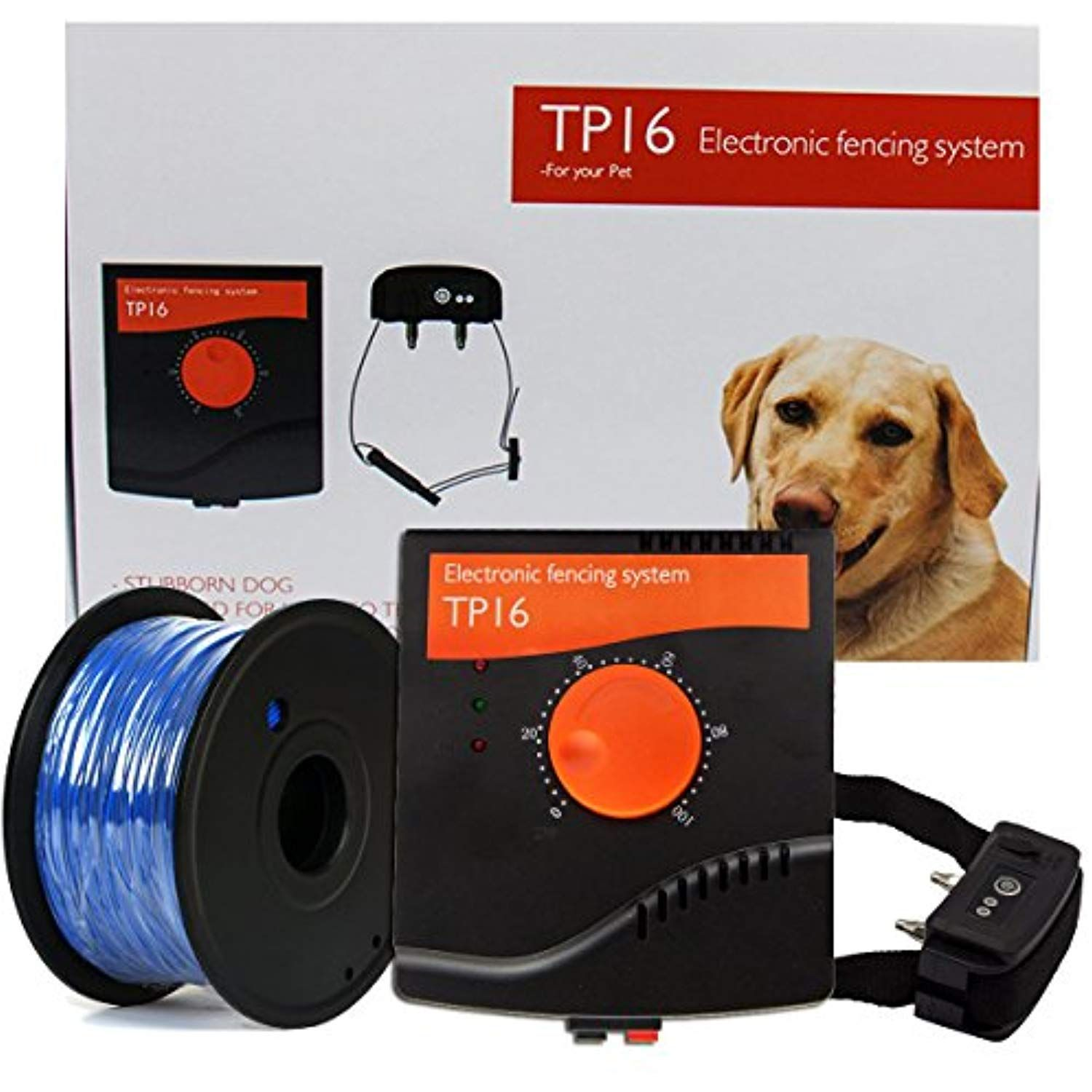 Electronic Pet Fencing System Outdoor Invisible Electric Wired Dog Fence 655ft Remote Electronic Dog Fence Kit Rechargeable Dogtr Dog Training Dog Fence Dogs