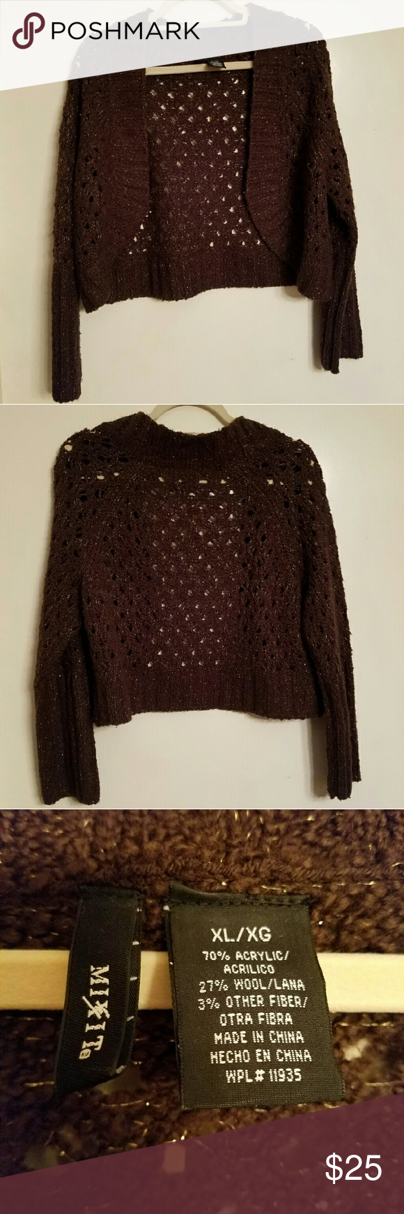 Brown crochet knit cardigan | Best Brown, Gold and Customer ...