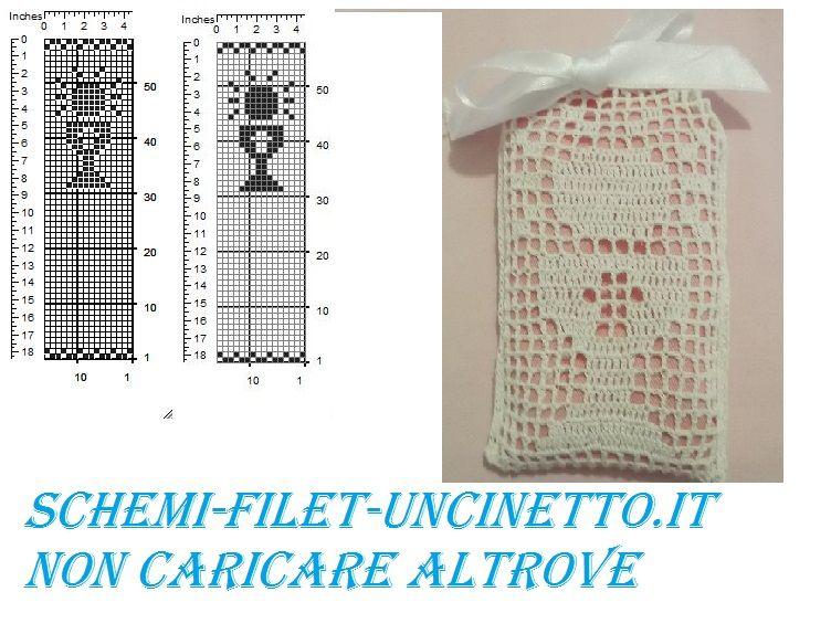Calice Comunione Bomboniera Sacchettino Schema Filet Uncinetto