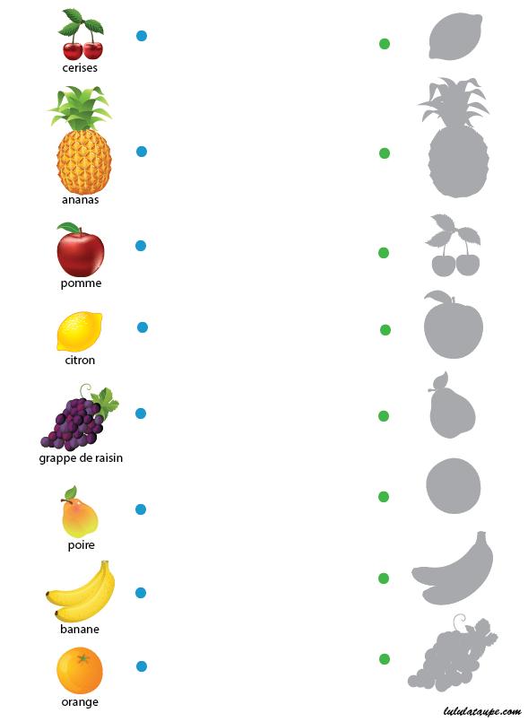 Assez Jeu des ombres gratuit à imprimer, les fruits | activités 3 -4 ans  MW55