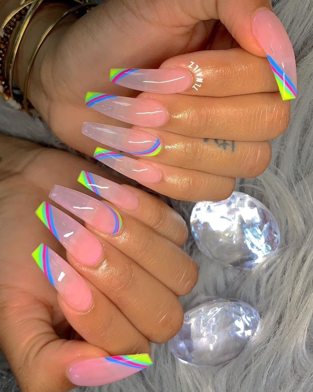 """NAILPRO Magazine on Instagram: """"Leave it to @tlnailz to whip up a #UNIQUE summer nail look 🎾🦋🎾 . . . . . #nails #sculptednails #luxurylife #nailart #nailartist…"""""""