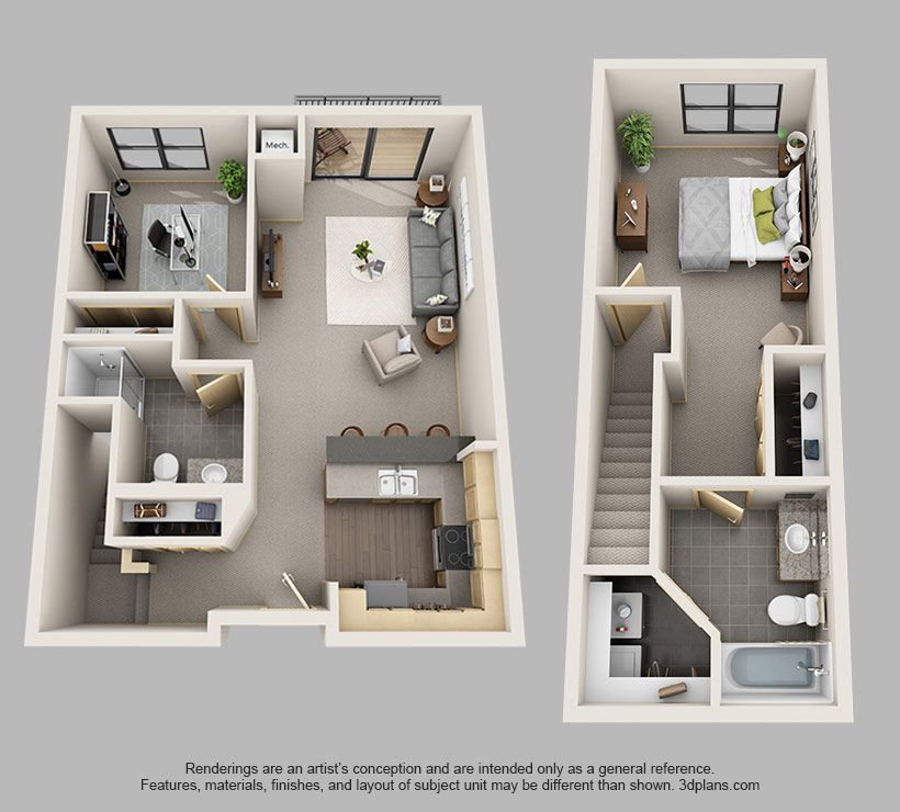 1 Bedroom Den Main Level T3 Jpg 820 740 Pixels Sims House Plans Condo Floor Plans House Layout Plans