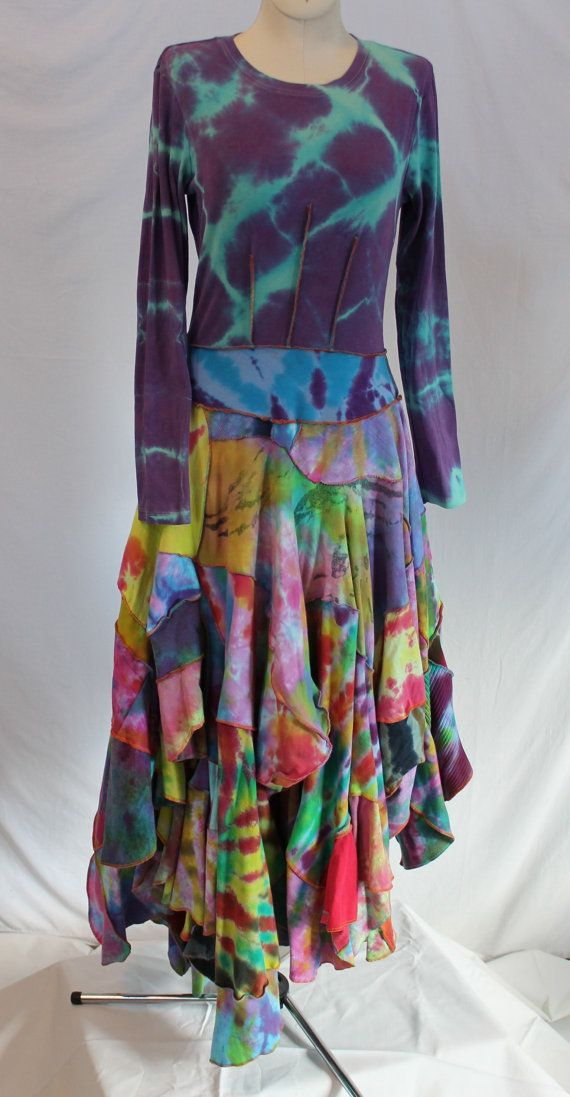 Recycled Tie Dyed T Shirts Upcycled Into Bohemian