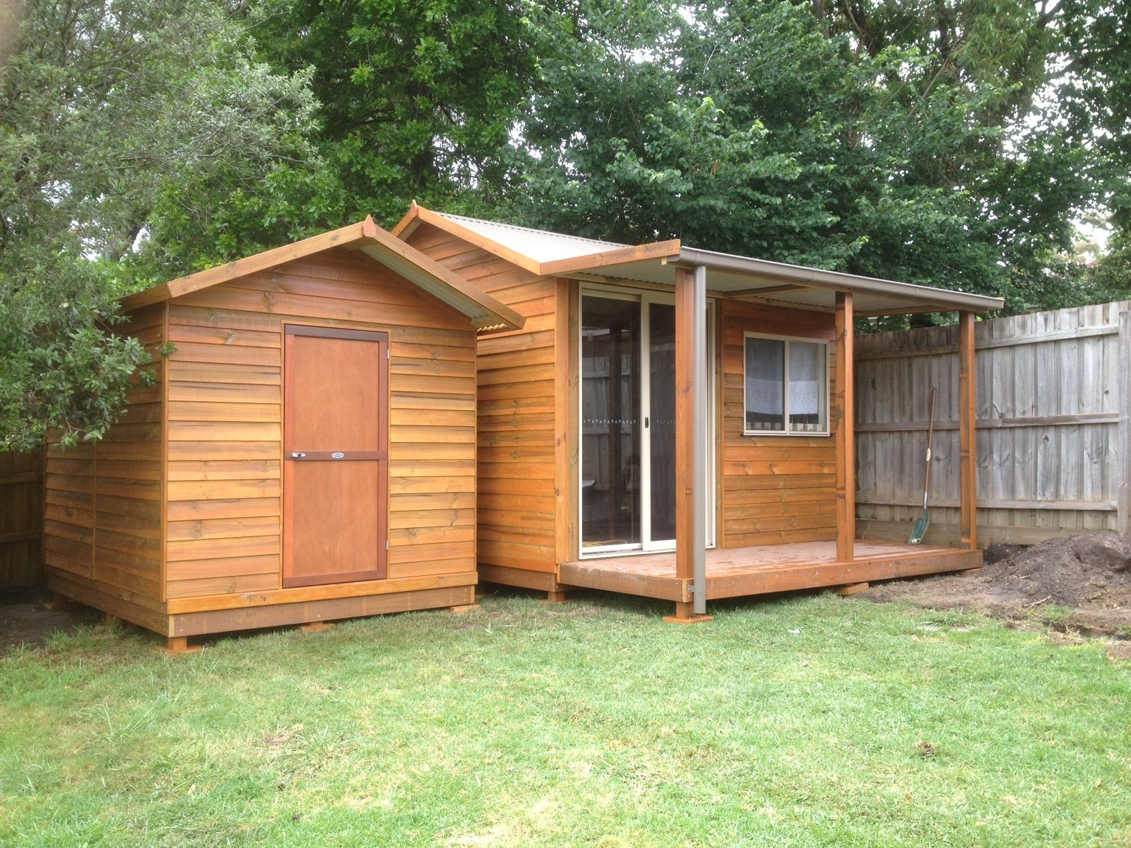 weve got a shed for storage and a studio for