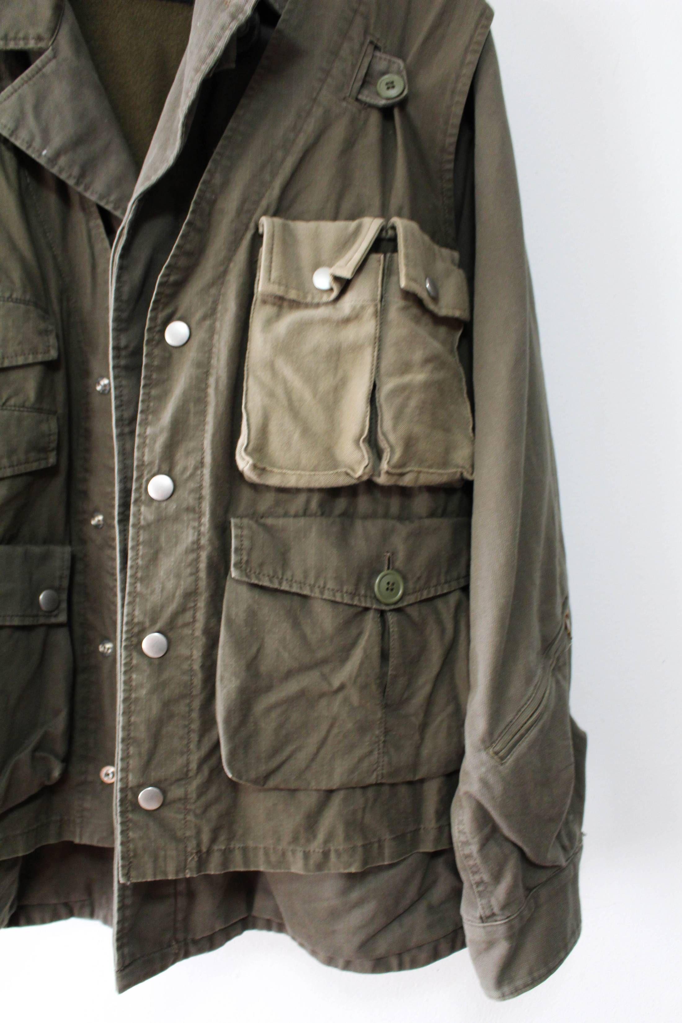 23b725ad40b Undercover M51 Field Military Jacket + Ripstop Utility Vest Size US L   EU  52-54   3 - 3