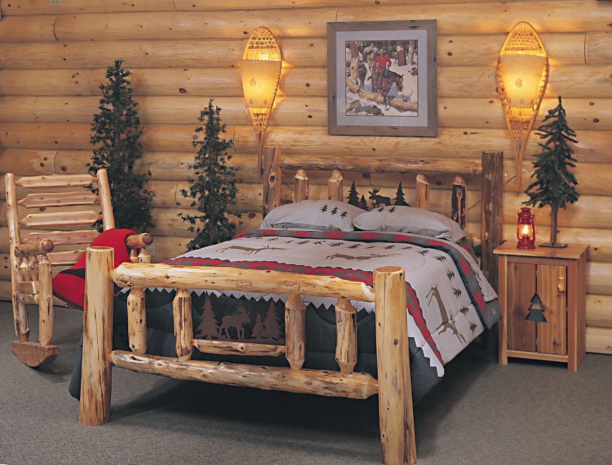 29 Unique Rustic Style Decor Plans To Plement A New Cabin Log Bed Kitchen Home