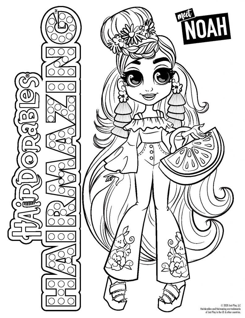 Hairdorables Each Doll Package Is A Surprise Just Pull Peel And Reveal 11 Accessories Cute Coloring Pages Cute Animal Drawings Kawaii Cute Animal Drawings