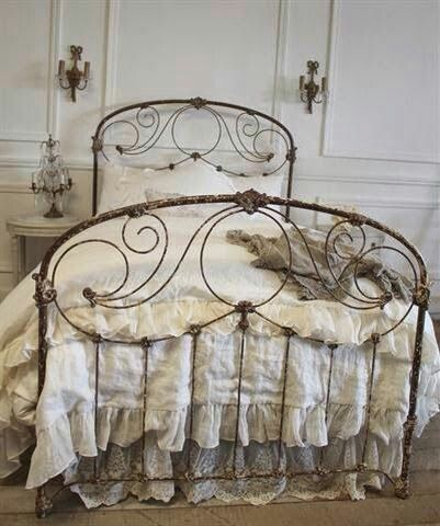 What A Bed Frame With Images Vintage Bed Chic Bedroom Iron Bed