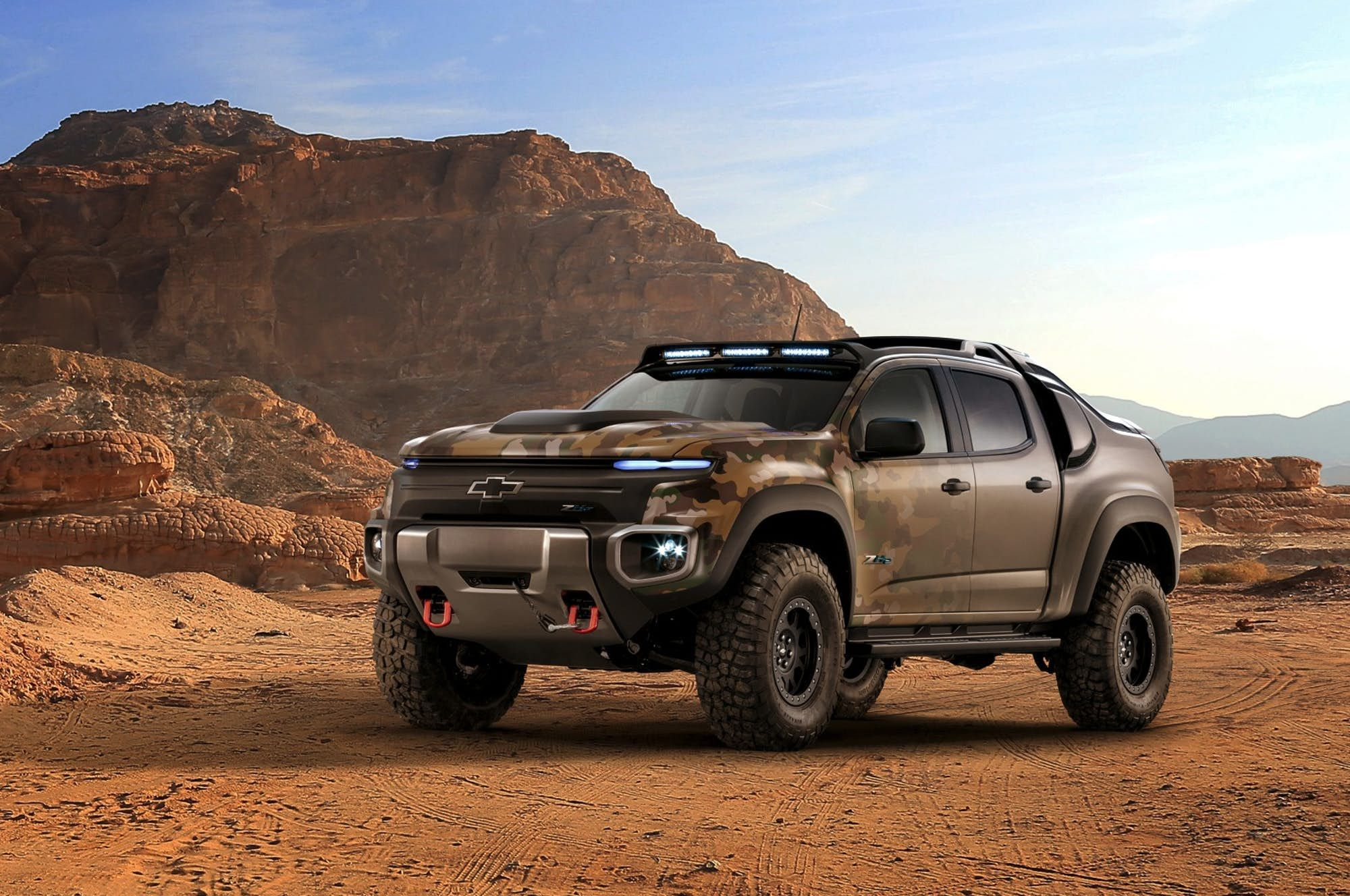 The chevy colorado zh2 is a more extreme off road ready pickup truck