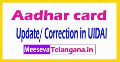 Aadhaar Card Change Name Correction Online Aadhar Card