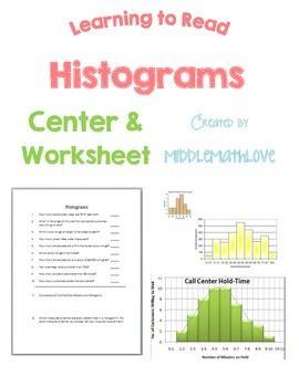 Data Analysis Worksheet Reading And Analyzing Histograms