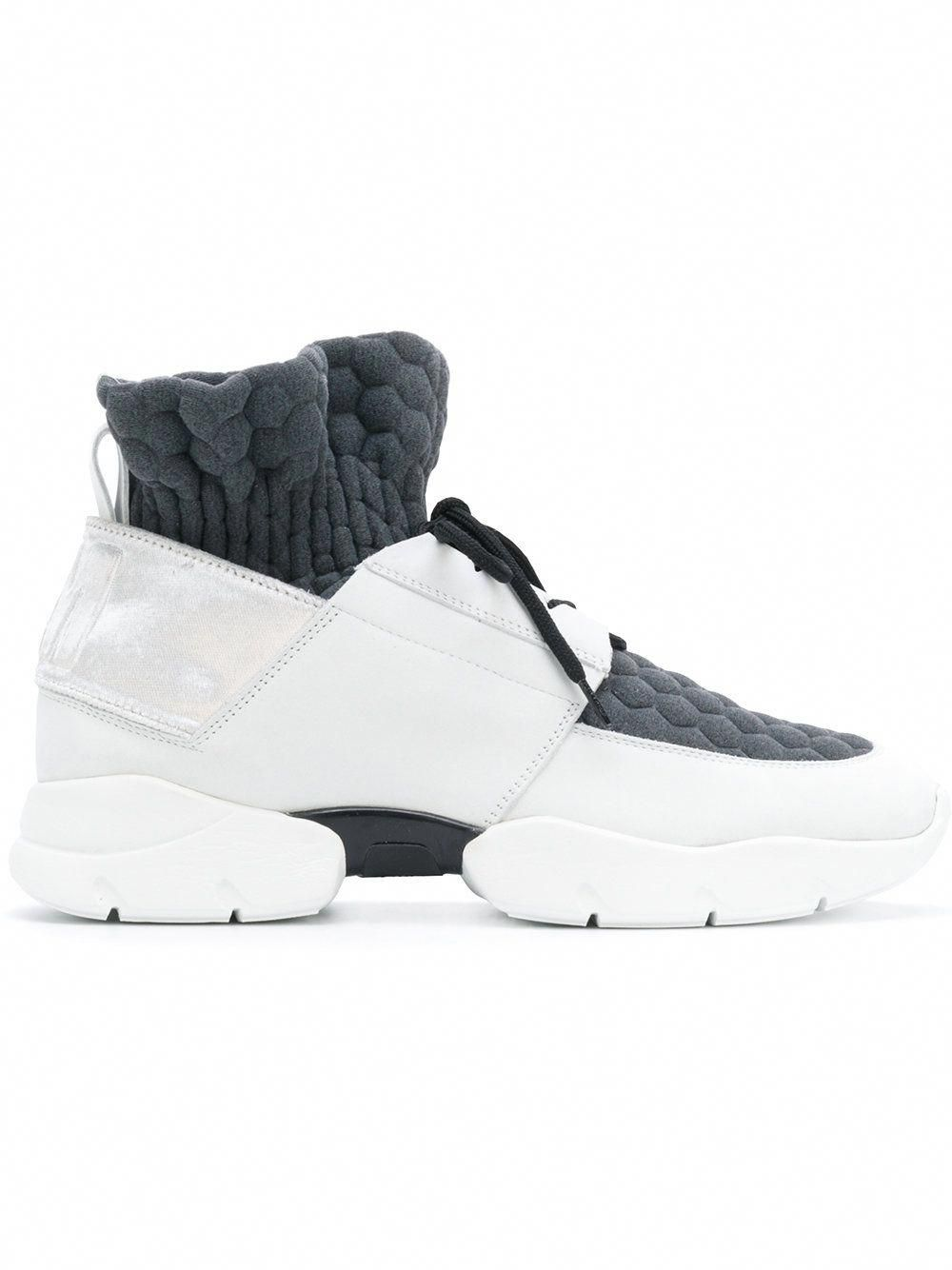 b2b6c828e3 MSGM sock insert sneakers #Sneakers | Sneakers | White leather shoes ...
