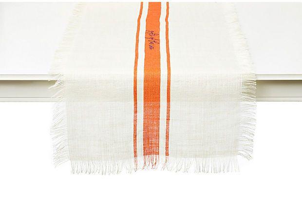 Gifts of the Sea Table Runner, Orange on OneKingsLane.com