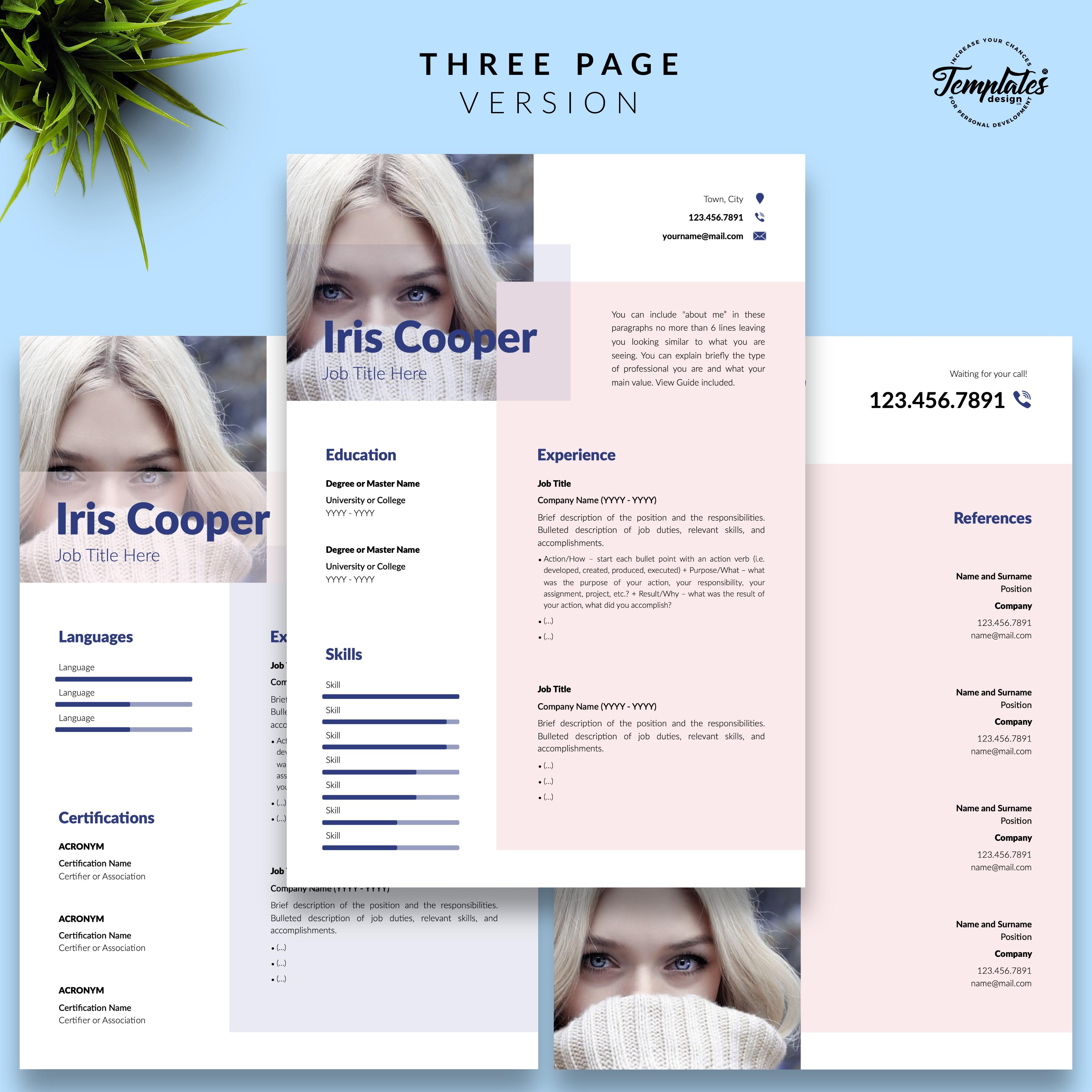 Professionelle Lebenslauf Vorlage Fur Microsoft Word Und Apple Pages Resume Templates Templates Resume