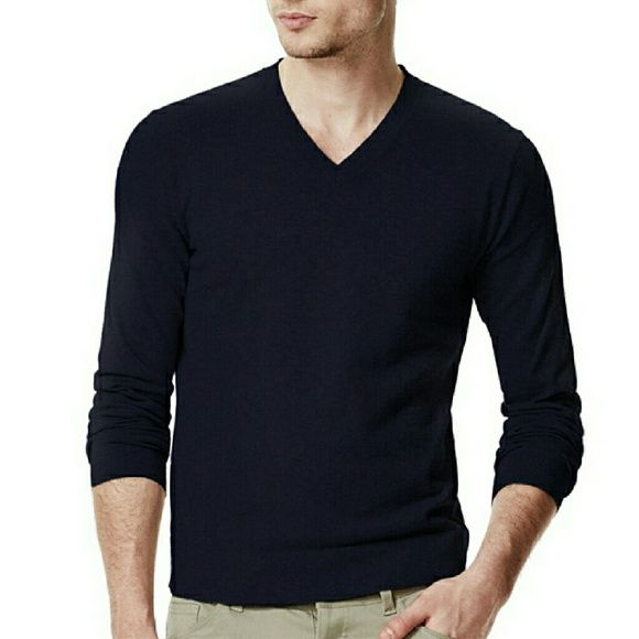 "Theory Men's Leiman V Neck Black Sweater M New with tags. Perfect condition. Men's sweater but can be unisex. Chest measures about 21.5"" straight across, length measures about 26"" and sleeve about 28.5"" Theory Sweaters V-Necks"